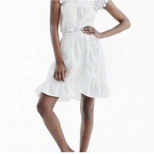 J Crew White Wrap Skirt
